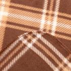 Плед Scotland 030 бежевый + экрю 140х200см флис 180г/м пэ100% - Фото 3