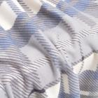 Плед Мадрас серый 140х200см, флис 180г/м пэ100% - Фото 2