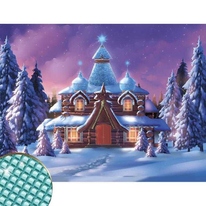 Алмазная вышивка «Волшебная сказка» 30х40 см, холст, пинцет, емкость
