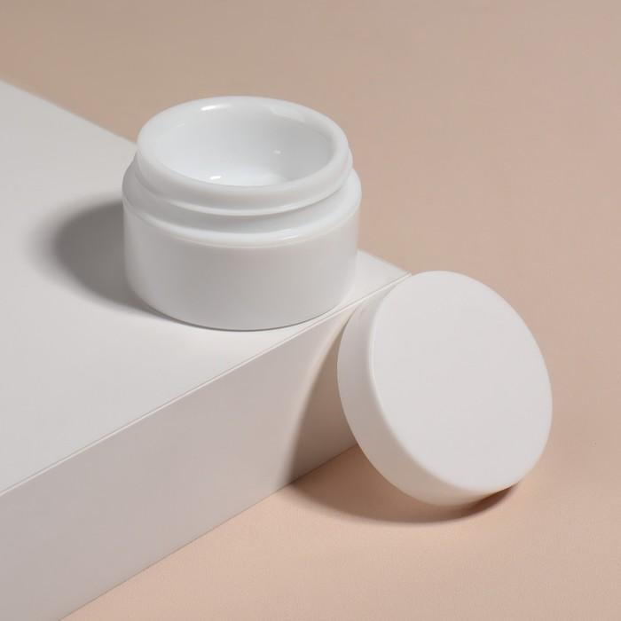 Баночка для геля и декора, d 5 см, 15 гр, цвет белый