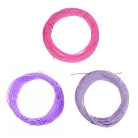 Пластик PCL для 3D ручки, длина: 5 м, цвета фиолетового МИКС