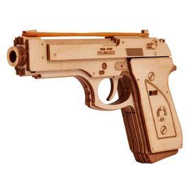 3D-пазл из дерева «Пистолет-резинкострел с мишенями»