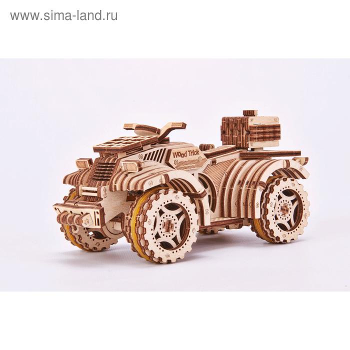 Механический 3D-пазл из дерева «Квадроцикл»