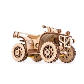 Механический 3D-пазл из дерева «Квадроцикл ATV»