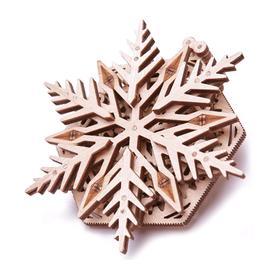 3D-пазл из дерева «Вудик Снежинка»