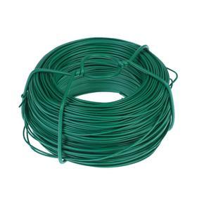 Проволока подвязочная, 100 м, d = 1,2 мм, зелёная, Greengo Ош