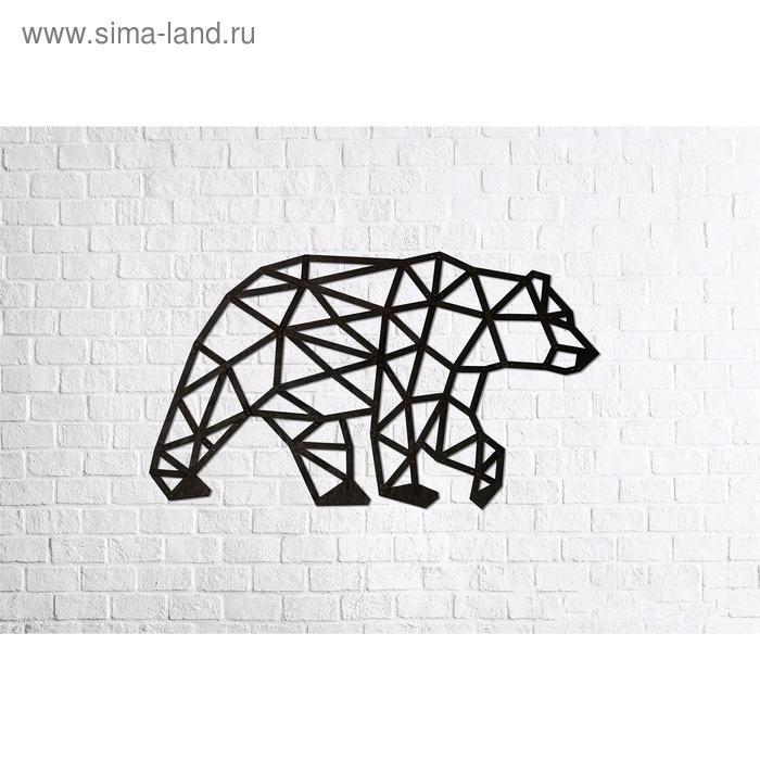 Деревянный интерьерный пазл «Медведь»