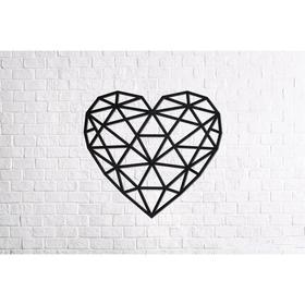 Деревянный интерьерный пазл «Сердце»