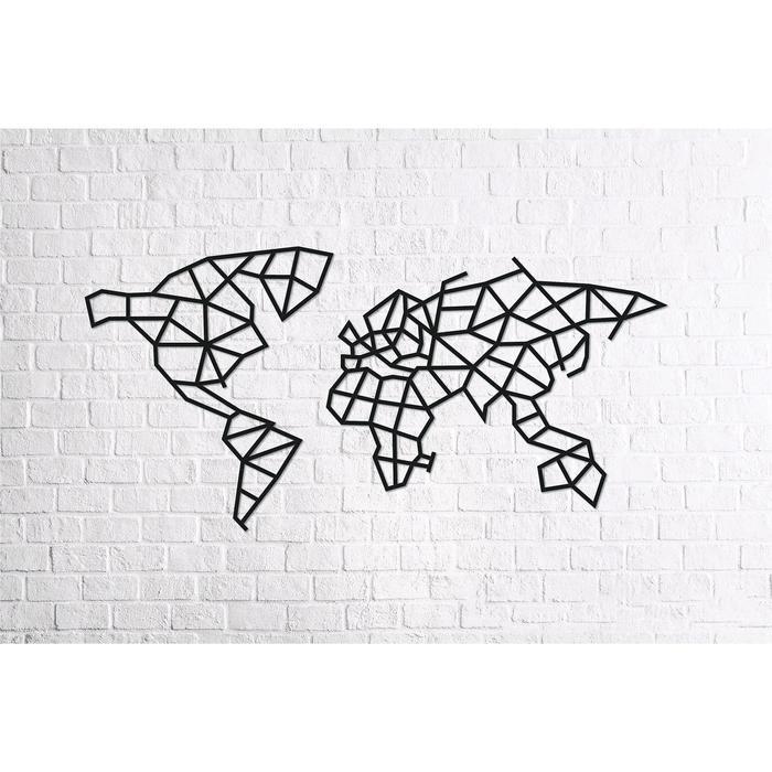 Деревянный интерьерный пазл «Карта Мира»