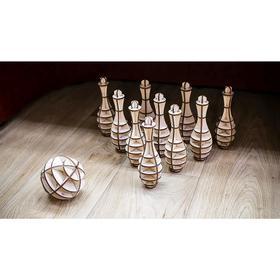 Конструктор деревянный 3D «Боулинг Мини»
