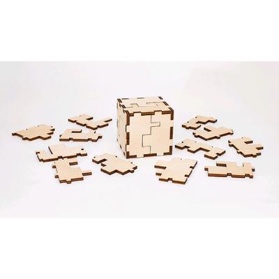 Деревянный конструктор-головоломка «Cube 3D puzzle» - Фото 1