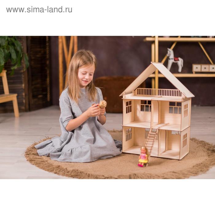 Конструктор-кукольный домик «Коттедж» из дерева