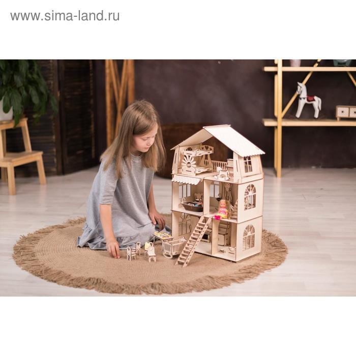 Конструктор-кукольный домик «Коттедж с мебелью Premium»