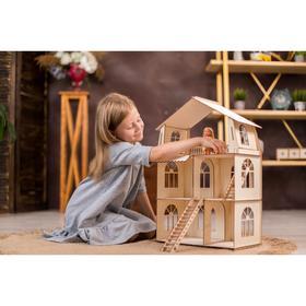 Конструктор-кукольный домик «Коттедж с пристройкой Premium»