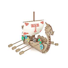 Конструктор из дерева Корабль Викингов «Драккар»