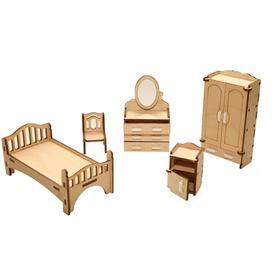 Мебель для кукольного домика «Спальня» из дерева