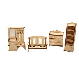 Мебель для кукольного домика «Прихожая» из дерева