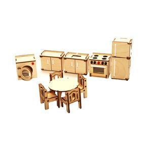 Мебель для кукольного домика «Кухня» из дерева