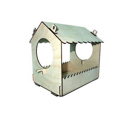 Конструктор деревянный «Кормушка для птиц малая» - Фото 1