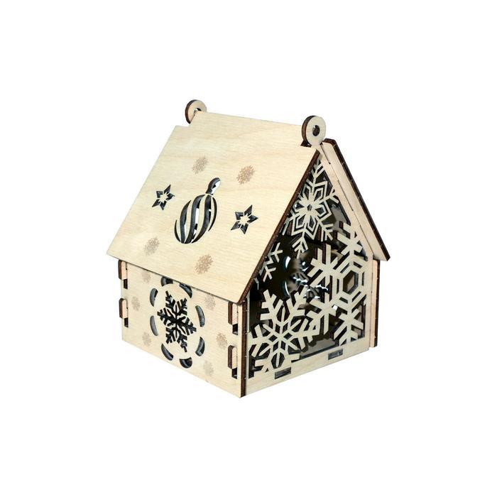 Конструктор деревянный «Домик Снежинка»