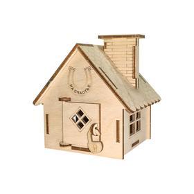 Конструктор деревянный «Домик копилка»