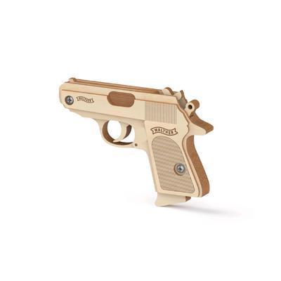 Конструктор-пистолет, резинкострел «Вальтер» - Фото 1