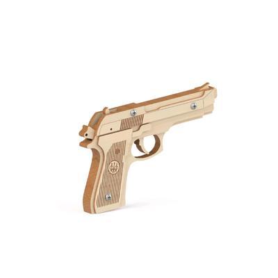 Конструктор-пистолет, резинкострел «Беретта» - Фото 1