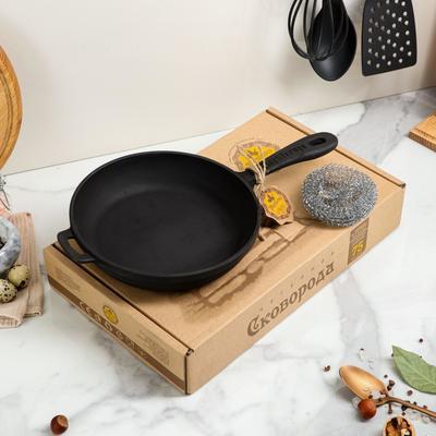 Сковорода чугунная литая, 200 х 40 мм, премиум набор - Фото 1