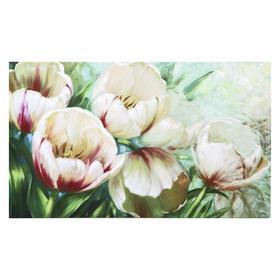 "Картина на холсте ""Садовые тюльпаны"" 60х100 см"