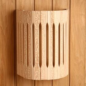 Абажур деревянный, полукруглый 'Русские узоры' Ош