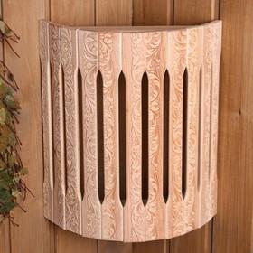 Абажур деревянный угловой 'Русские узоры' Ош