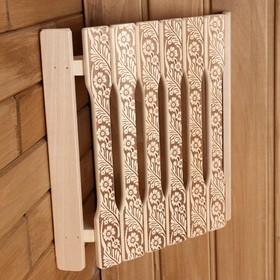 Абажур деревянный угловой плоский 'Русские узоры' Ош