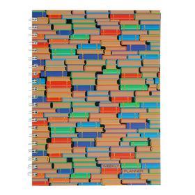 Еженедельник недатированный А4, 72 листа, на гребне 'Графика. Коллекция книг', твёрдая обложка, матовая ламинация, блок офсет 60 г/м2 Ош