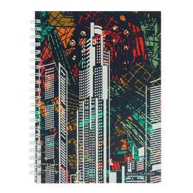 Еженедельник недатированный А4, 72 листа, на гребне 'Графика. Городская геометрия', твёрдая обложка, матовая ламинация, блок офсет 60 г/м2 Ош