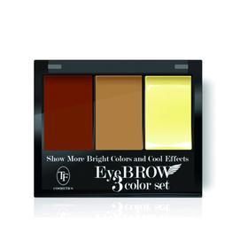 Тени для коррекции бровей с закрепляющим воском TF Eyebrow 3 Color Set, тон 103C мягкий коричневый