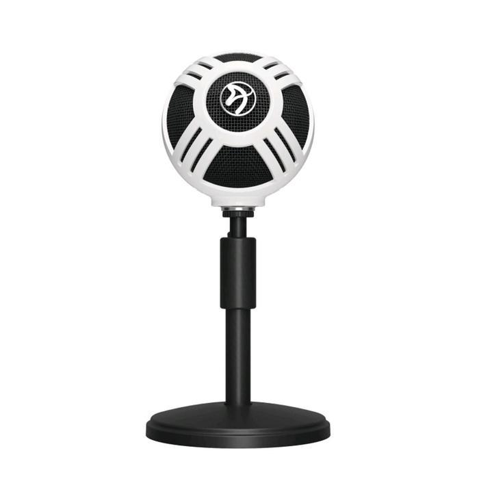 Микрофон компьютерный Arozzi Sfera, 50-16000 Гц, 44 дБ, USB, 1.8 м, белый