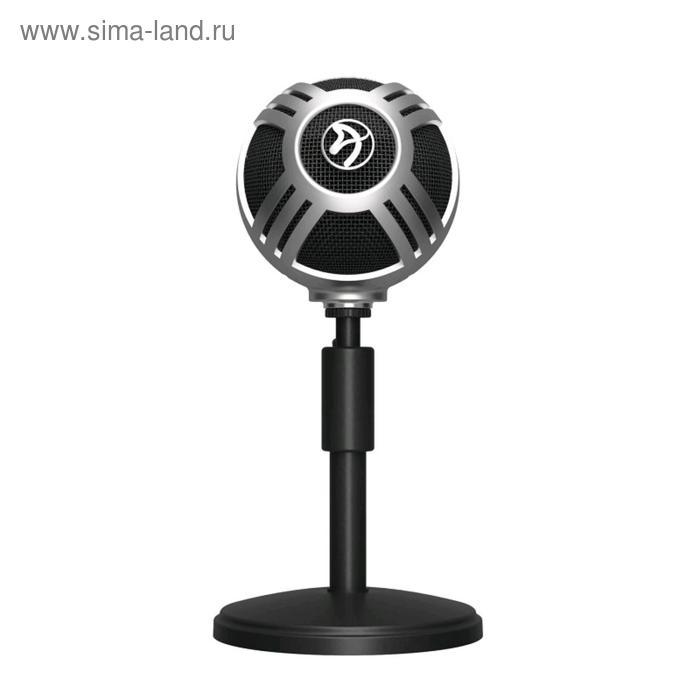 Микрофон компьютерный Arozzi Sfera Pro, 50-16000 Гц, 44 дБ, USB, 1.9 м, серебристый