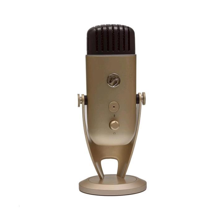 Микрофон компьютерный Arozzi Colonna, 20-20000 Гц, 4.5 мВ/Па (1 кГц), USB, 3 м, цвет золото   524460