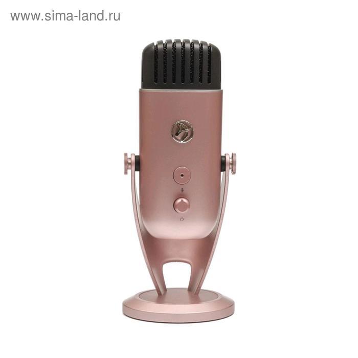Микрофон компьютерный Arozzi Colonna, 20-20000 Гц, 4.5 мВ/Па (1 кГц), USB, 3 м, rose gold