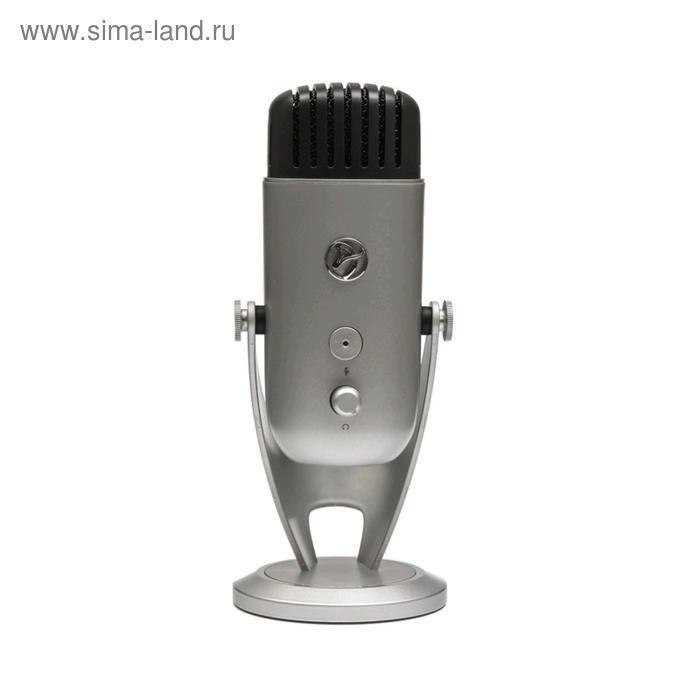 Микрофон компьютерный Arozzi Colonna, 20-20000 Гц, 4.5 мВ/Па (1 кГц), USB, 3 м, серебристый   524460