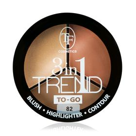Румяна для контуринга лица TF Trend TO-GO, тон 82 golden&brown