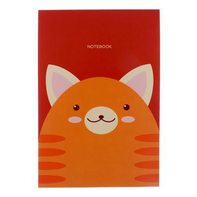 """Блокнот А6, 40 листов на клею """"Кот. Дизайн-4"""", обложка мелованный картон, блок офсет 70 г/м2 - Фото 1"""