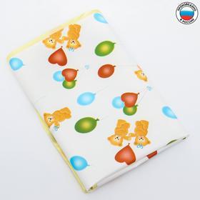 Клеенка 50*70 см., на резинке, арт. 0063, с окантовкой, рисунок 'Мишки', цвет МИКС Ош