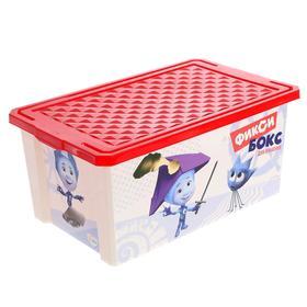 Детский ящик для хранения игрушек «Фиксики, 12 литров, цвет красный
