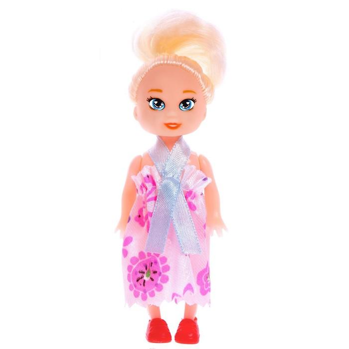 Кукла малышка Ксюша в платье, МИКС