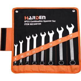 Набор ключей комбинированных гаечных HARDEN 540104, CRV, 8 штук