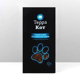 """Сухой корм """"Терра Кот"""" для взрослых кошек, с  норвежским  лососем, 400 г"""