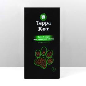 """Сухой корм """"Терра Кот"""" для взрослых кошек, с перепелками, 400 г"""