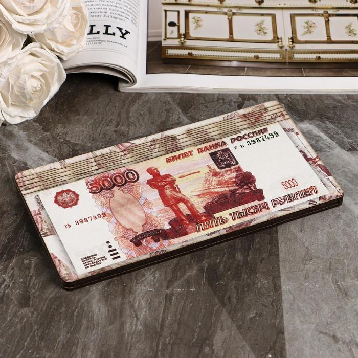 Купюрница 5000 рублей, плоская, печать, 18,5х9,5х0,8 см