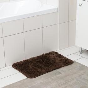 Коврик Доляна «Мягкий» 40×60 см, длина ворса 1,5 см, цвет МИКС
